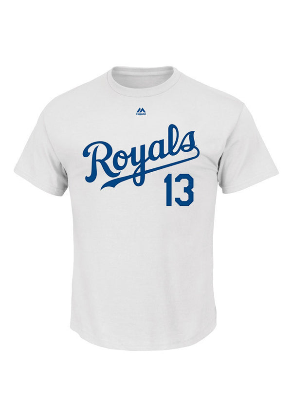 Kansas City Royals Salvador Perez Youth Name & Number T-Shirt by Majestic