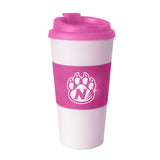 Northwest Missouri State Pink Sleeved Travel Tumbler 16 oz.