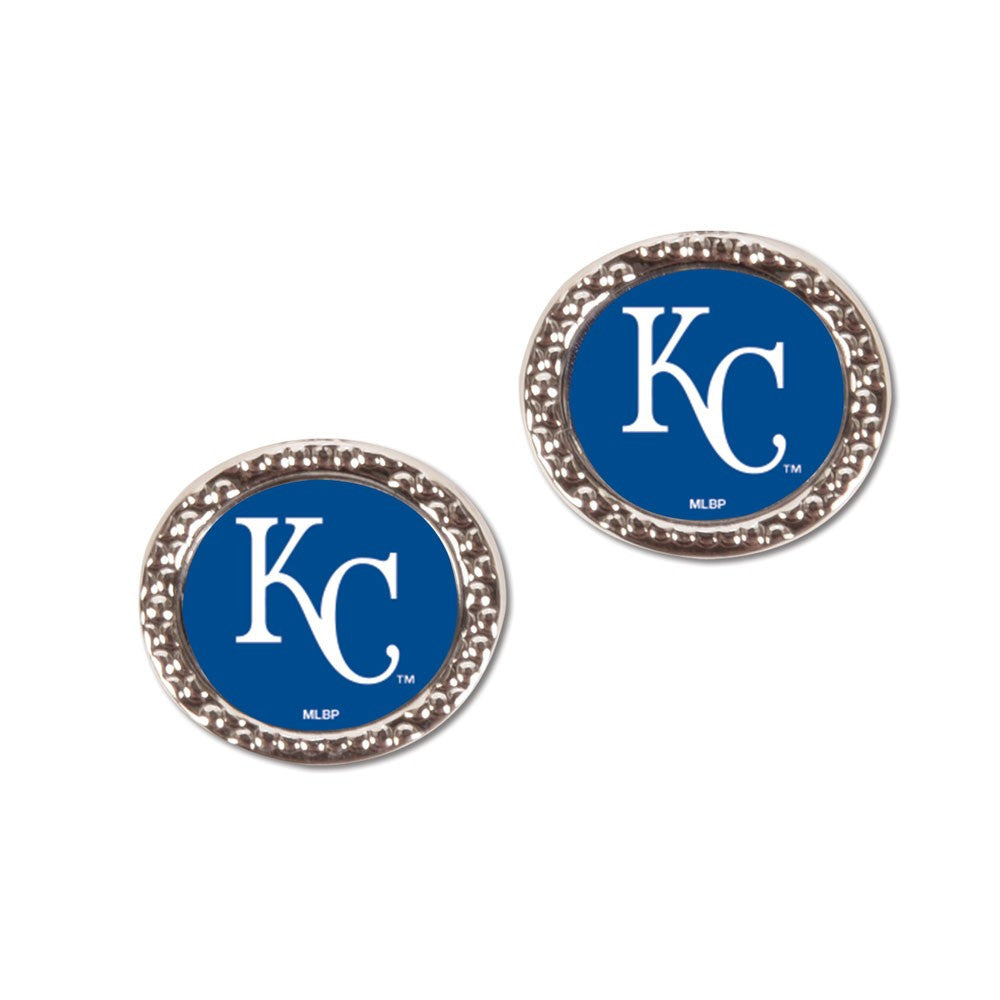Kansas City Royals Earrings Jewelry Carded Round