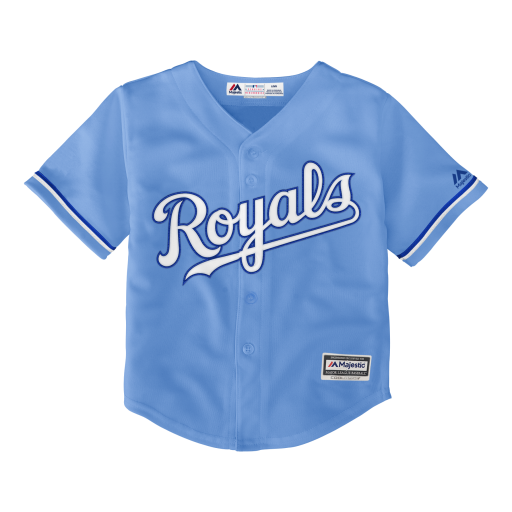 Kansas City Royals Powder Blue Alternate Toddler Jersey by Majestic