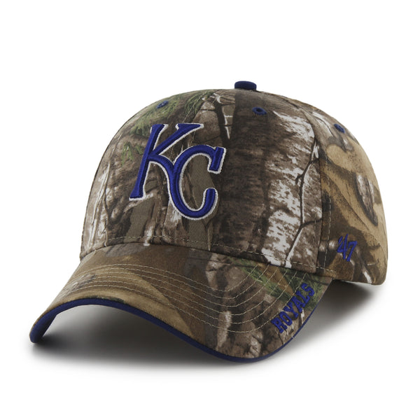 Kansas City Royals Adjustable RealTree Frost Camo Hat by '47 Brand
