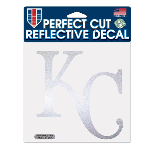 "Kansas City Royals Reflective Perfect Cut 6"" x 6"""