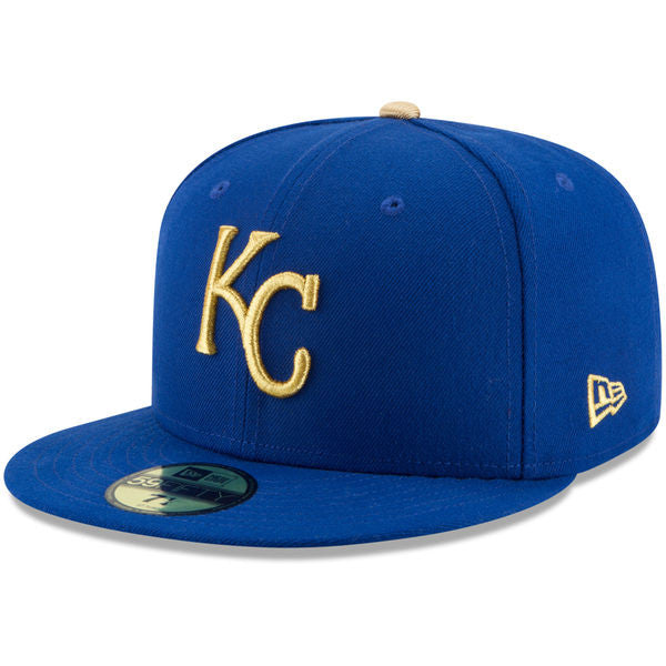 Kansas City Royals 2017 Gold Team Classic 5950 Fitted Hat by New Era
