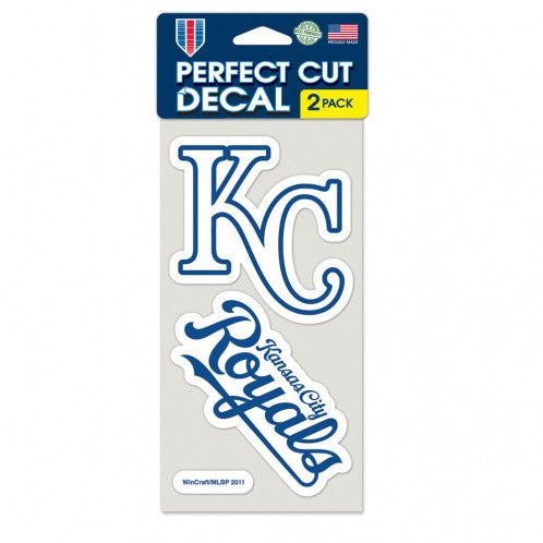 "Kansas City Royals Perfect Cut Set of 2 4""x4"" Decals by Wincraft"