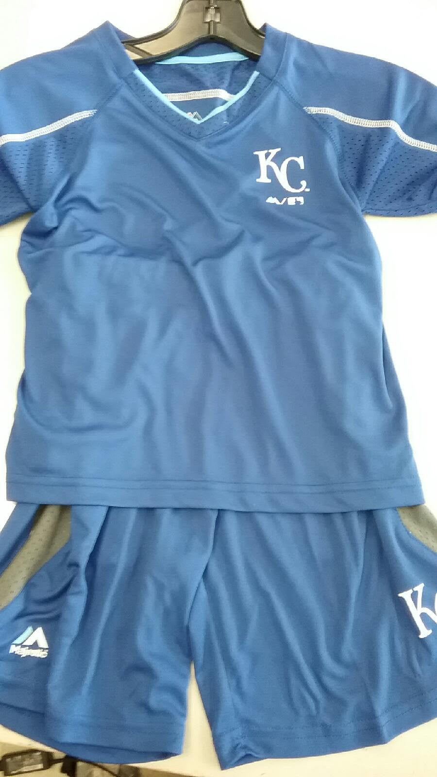 low priced 8ee57 7ca7f Kansas City Royals Boys 2 Piece CoolBase Shorts & T-Shirt Set by Outerstuff