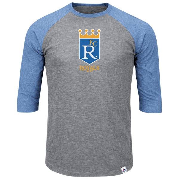 Kansas City Royals Men's Two To One Margin 3/4 Sleeve Baseball Tee by Majestic