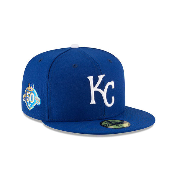 Kansas City Royals Jr. Kids 50th Anniversary Fitted 59FIFTY Hat by New Era
