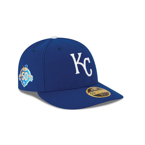 Kansas City Royals 50th Anniversary Fitted Low Profile 59FIFTY Hat by New Era
