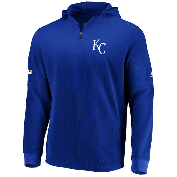 Kansas City Royals Batting Practice Waffle Pullover by Majestic