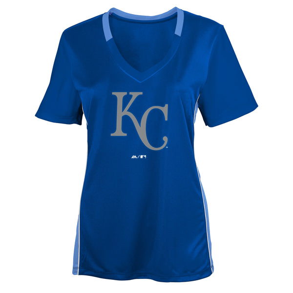 Kansas City Royals Girls The Best Team Synthetic V Neck T-Shirt
