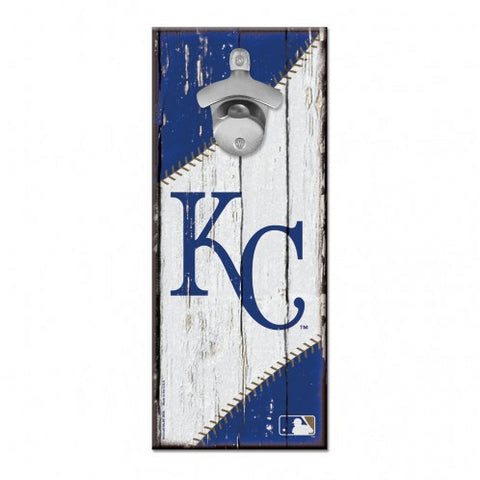 Kansas City Royals Bottle Opener Sign 5x11
