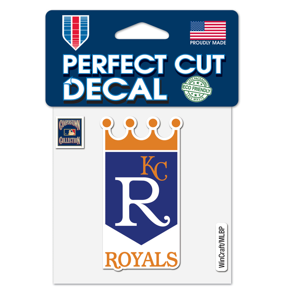 "Kansas City Royals / Cooperstown Perfect Cut Color Decal 4"" x 4"""