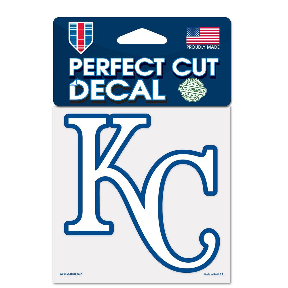 "Kansas City Royals Perfect Cut Color Decal 4"" x 4"""