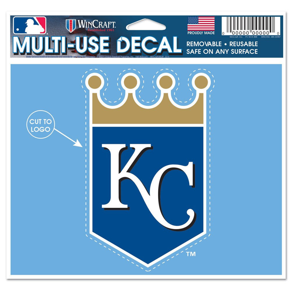 "Kansas City Royals Multi-Use Decal 4.5"" x 5.75"""
