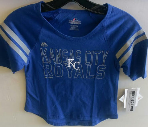 Kansas City Royals Girls Diamond Section 1/2 Sleeve T-Shirt by Outerstuff