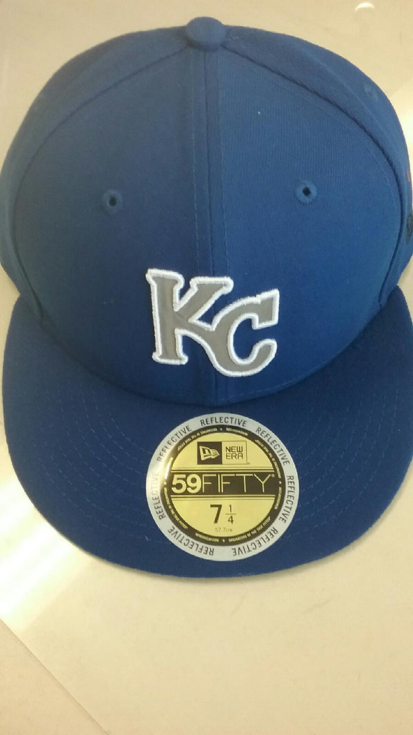 Kansas City Royals Flected Team Trim Fitted 59FIFTY Hat by New Era