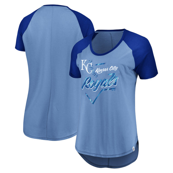 Kansas City Royals Ladies Game Shake-Up Tee by Majestic