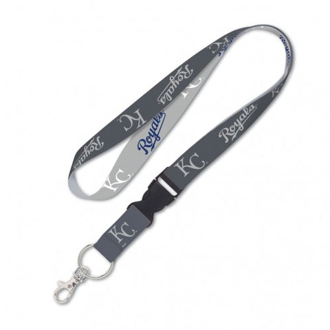 Kansas City Royals Grey Lanyard w/detachable buckle 1""