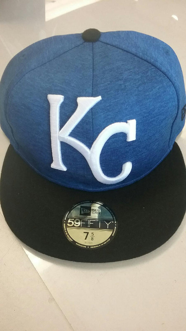 Kansas City Royals Heather Huge Fit Fitted 59FIFTY hat by New Era