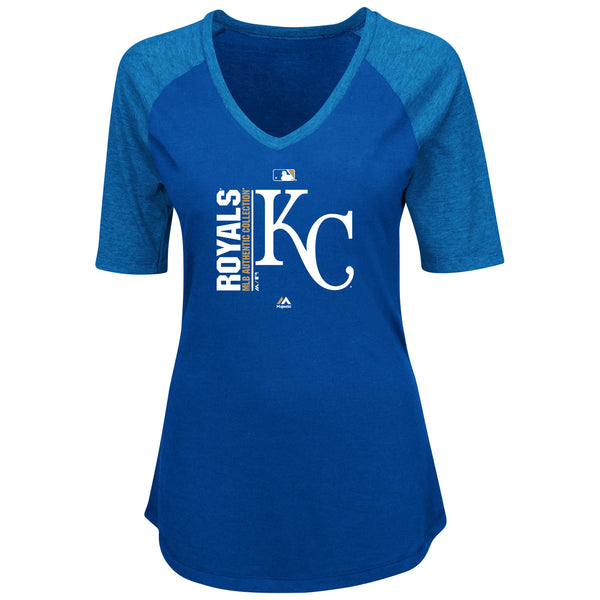 Kansas City Royals Ladies Team Icon V Neck T-Shirt by Majestic