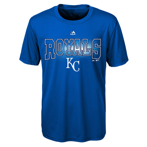 Kansas City Royals Boys Light Up The Field Synthetic T-Shirt
