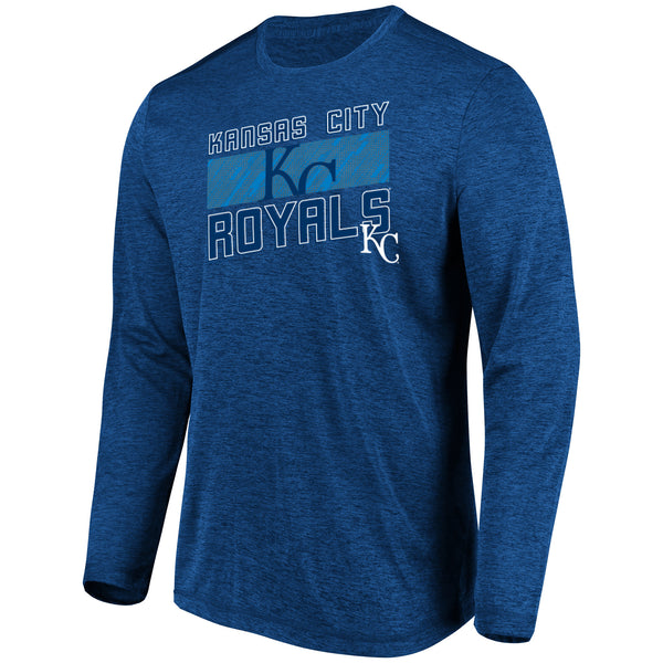 Kansas City Royals Big & Tall Long Sleeve Team Heather T-Shirt by Majestic