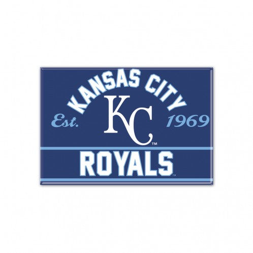 "Kansas City Royals Metal Magnet 2.5"" x 3.5""by Wincraft"