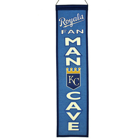 Kansas City Royals Man Cave Banner by Winning Streak Sports