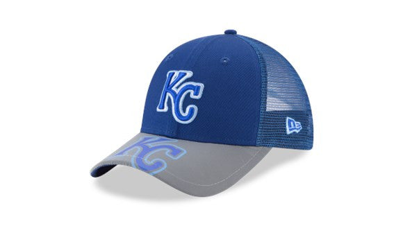Kansas City Royals Youth Adjustable 9FORTY Mega Flect Hat by New Era