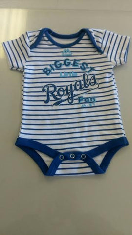 Kansas City Royals Biggest Little Fan Infant Onesie by Outerstuff