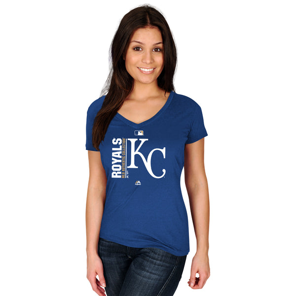 Kansas City Royals Ladies Team Icon V-Neck Short Sleeve T-Shirt by Majestic