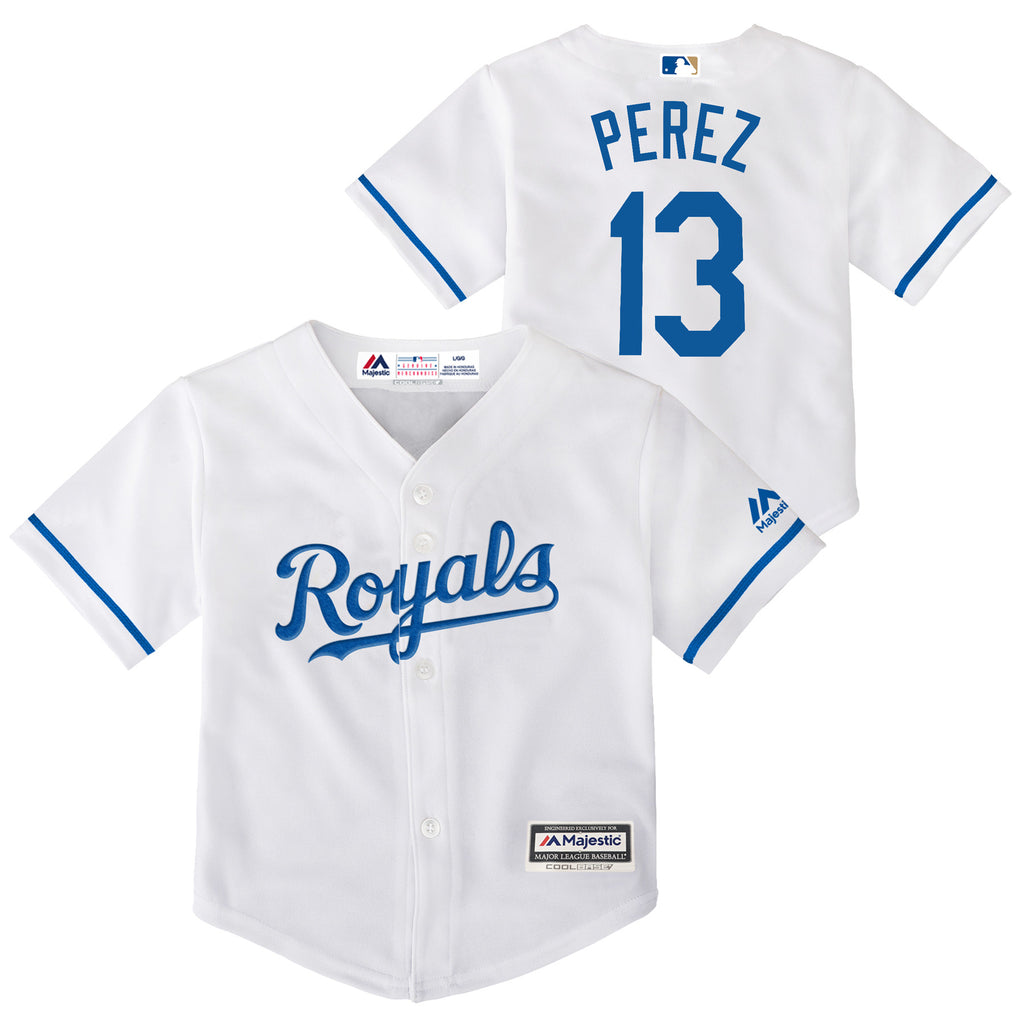 Kansas City Royals Infant Salvador Perez Home White Jersey by Outerstuff