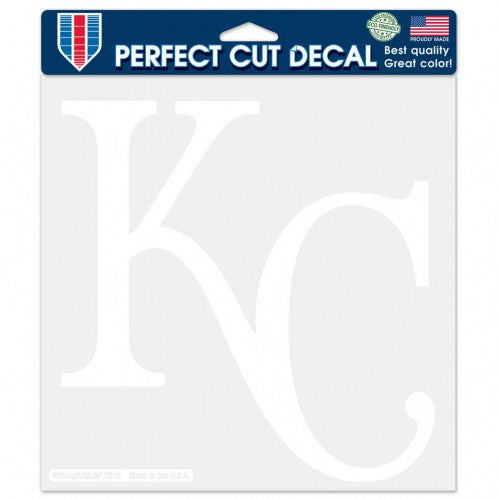 "Kansas City Royals White 8""x 8"" Perfect Cut Decal by Wincraft"