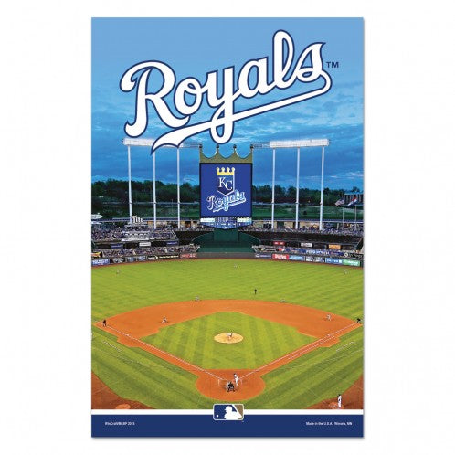 "Kansas City Royals Wood Sign 3/8"" thick 11"" x 17"" by Wincraft"