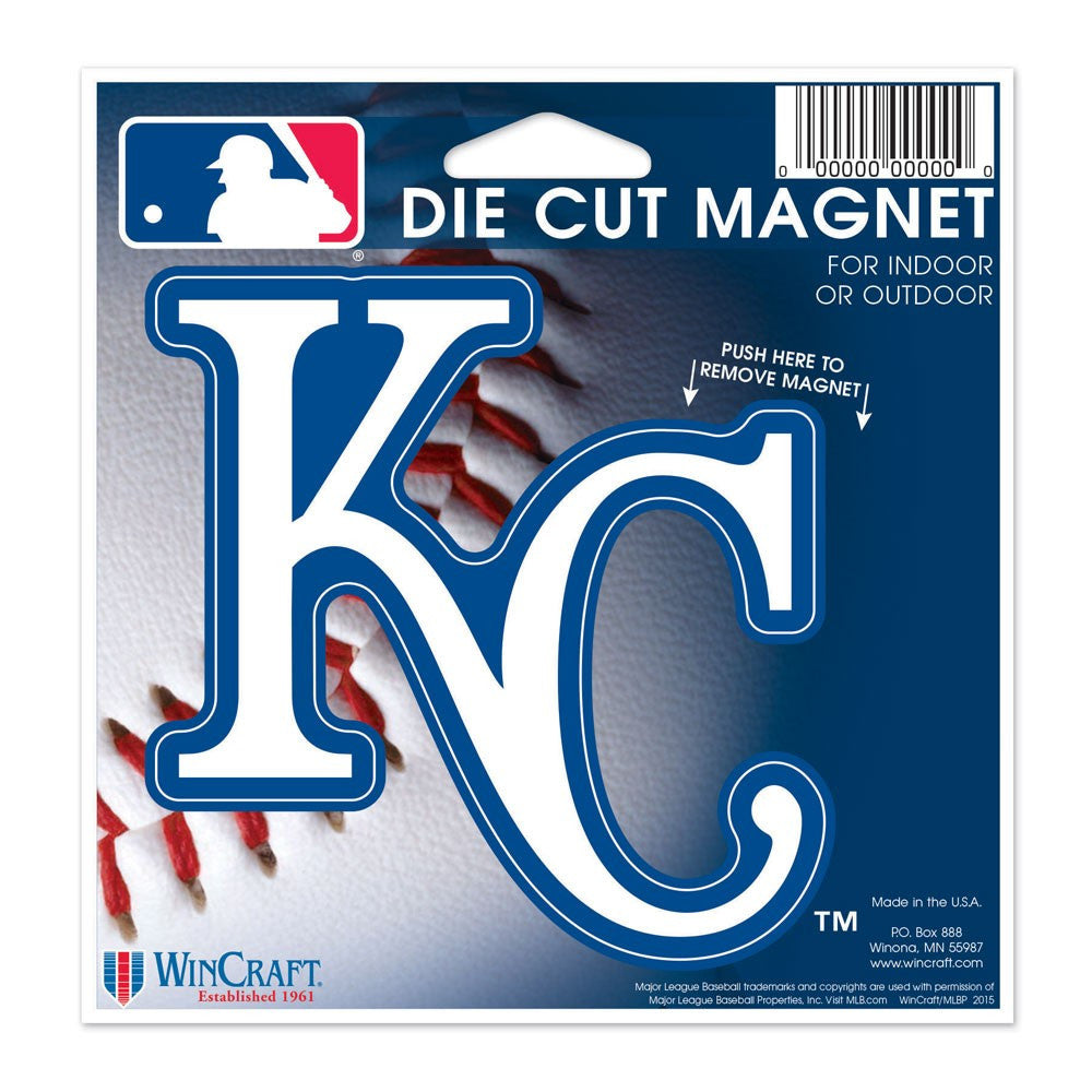 "Kansas City Royals Die Cut Magnet 4.5"" x 6"""