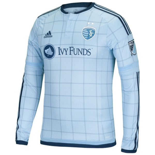 Sporting Kansas City 2015 Primary Long Sleeve Authentic Jersey by Adidas