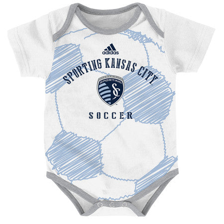 Sporting Kansas City 0-9M Drop Ball Onesie