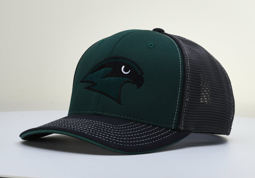 Staley Falcons 172 DkGreen/Charcoal/Black Stretch Fit Hat by Richardson