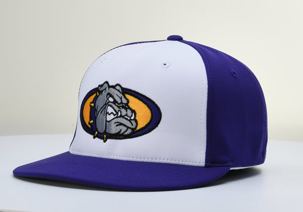 Kearney Bulldogs PTS20 White/Purple Stretch Fit Hat by Richardson
