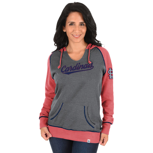St. Louis Cardinals Ladies Absolute Confidence Hooded Sweatshirt by Majestic
