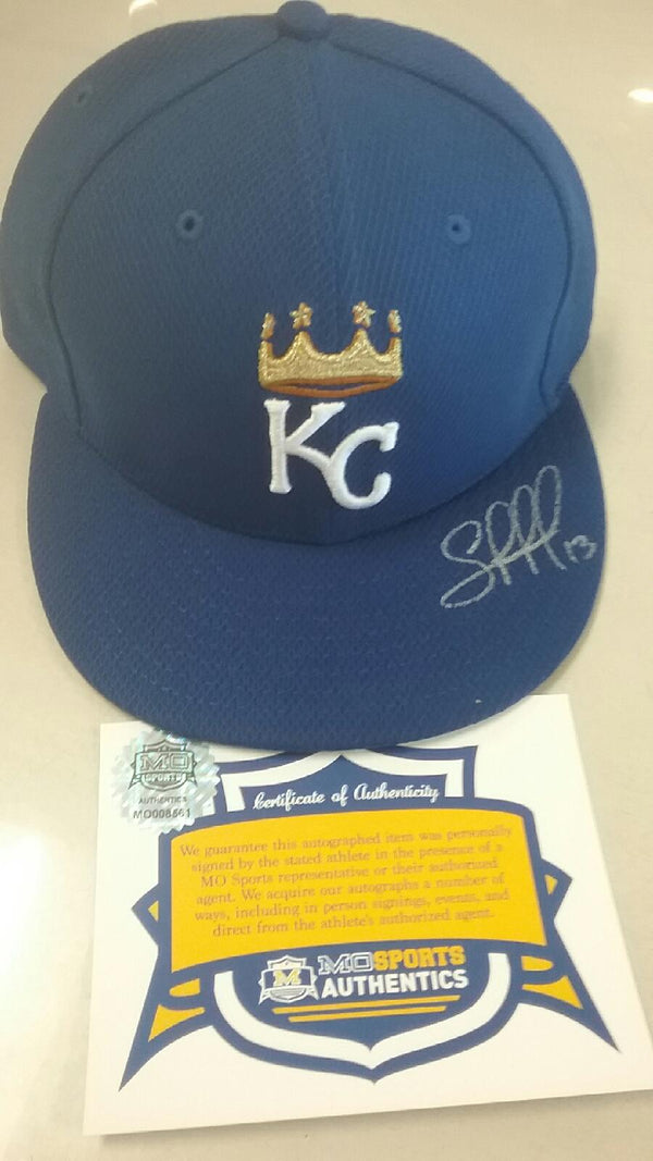 Kansas City Royals Salvador Perez Signed Autographed BP New Era Hat COA