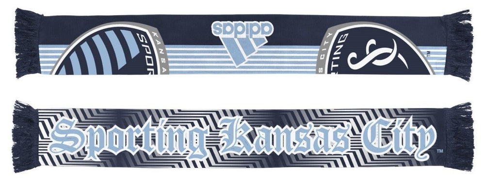 "Sporting Kansas City Adidas MLS Authentic ""Stripe"" Sublimated Team Scarf by adidas"