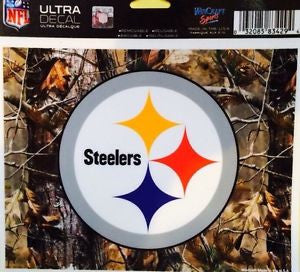 "Pittsburgh Steelers Camo NFL Multi-Use Colored Decal 5"" x 6"""