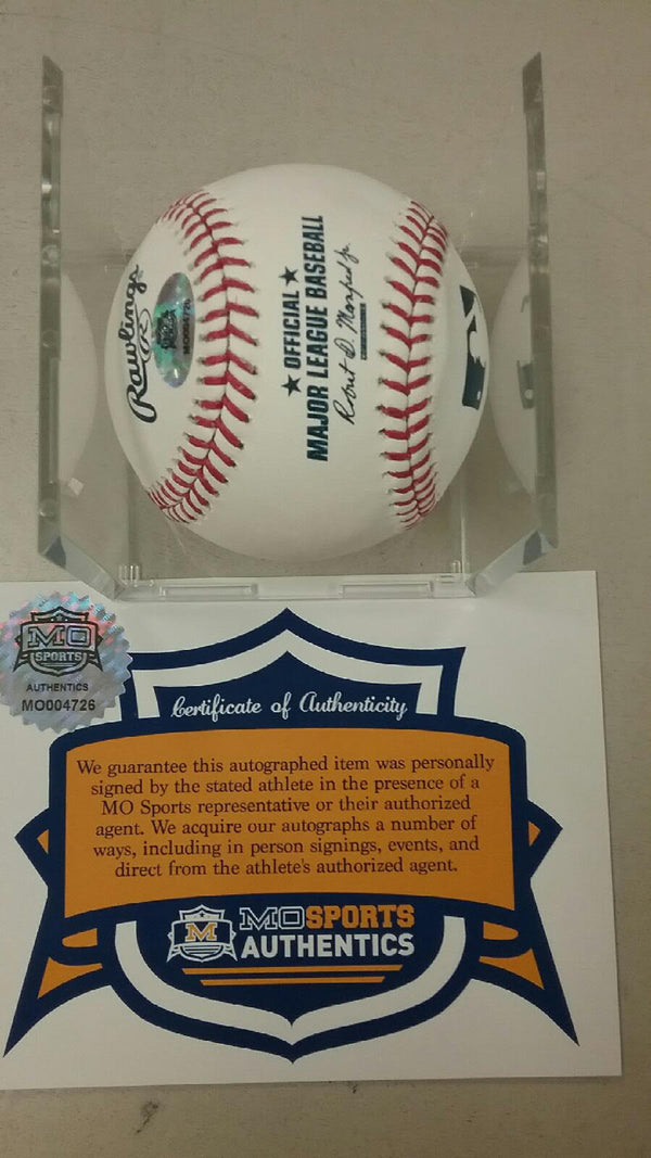 Kansas City Royals Matt Strahm Signed Autographed OML Baseball MLB Debut COA
