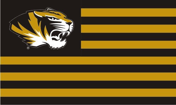 Missouri Tigers 3'x5' Stripes Flag