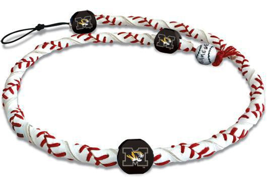 Missouri Tigers Classic Frozen Rope Baseball Necklace