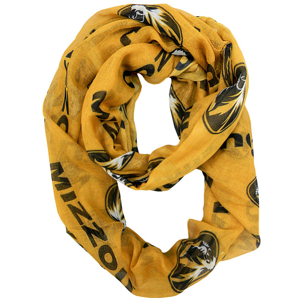 Missouri Tigers Gold Infinity Scarf by Little Earth