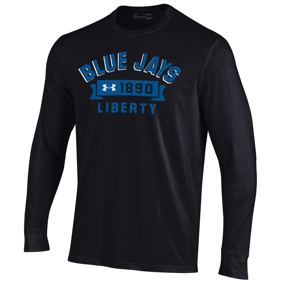 Liberty Blue Jays Black Banner Design Long Sleeve Performance Cotton T-Shirt by Under Armour