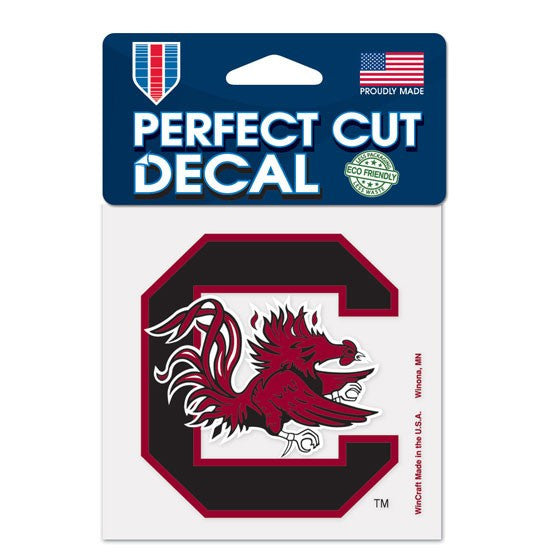 "University of South Carolina Perfect Cut Color Decal 4"" x 4"""