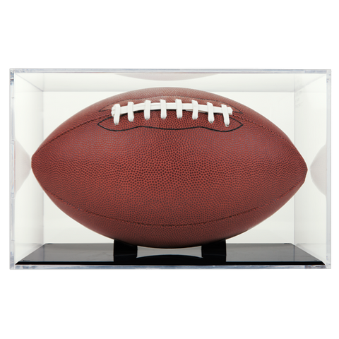 UV Protected Grandstand Football Display Case (Black Base)